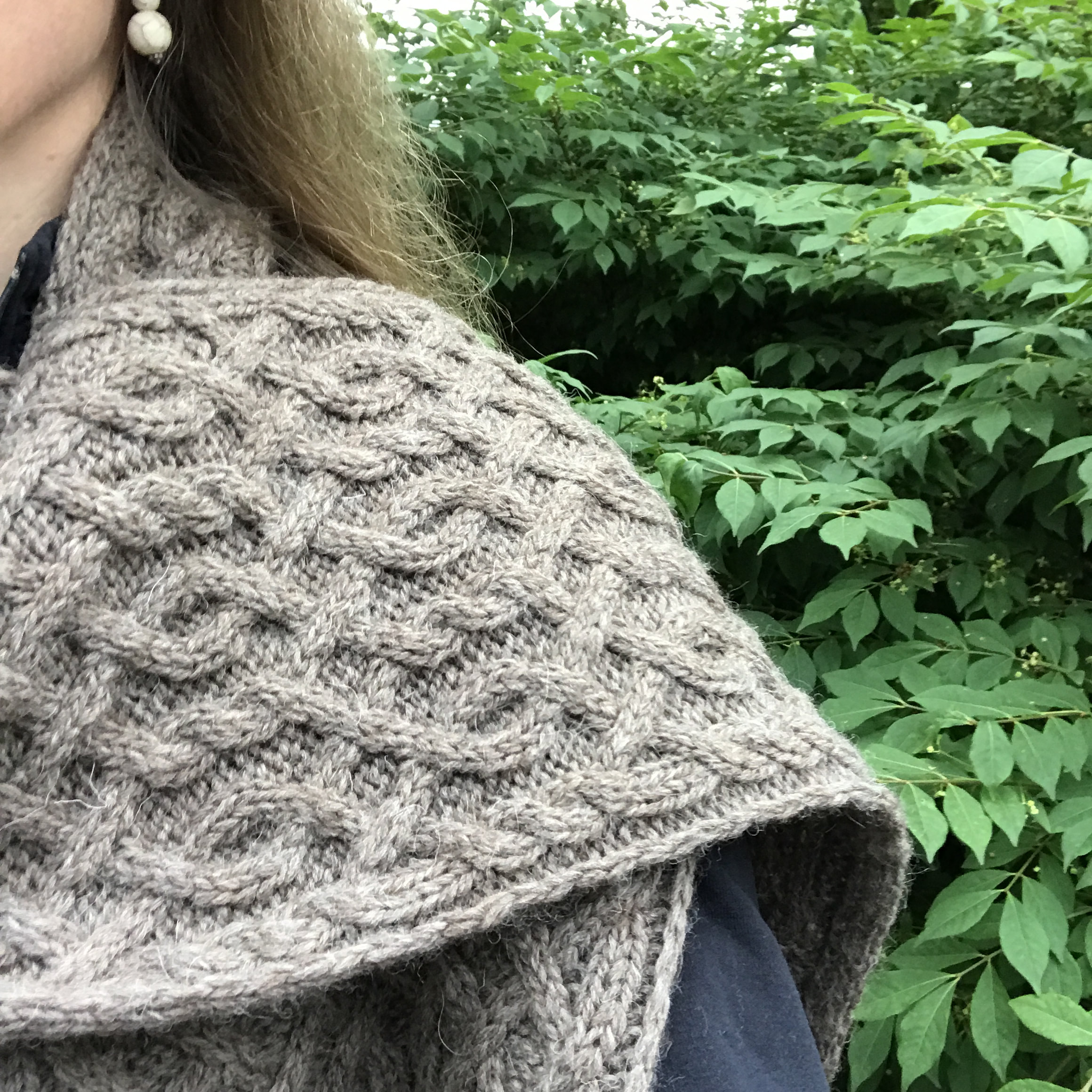 Creekwater Cabled Scarf Knitting Pattern